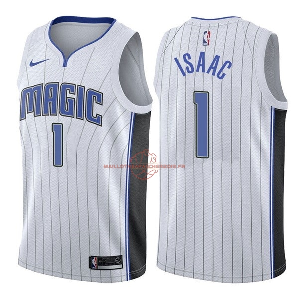 Achat Maillot NBA Nike Orlando Magic NO.1 Jonathan Isaac Blanc Association pas cher