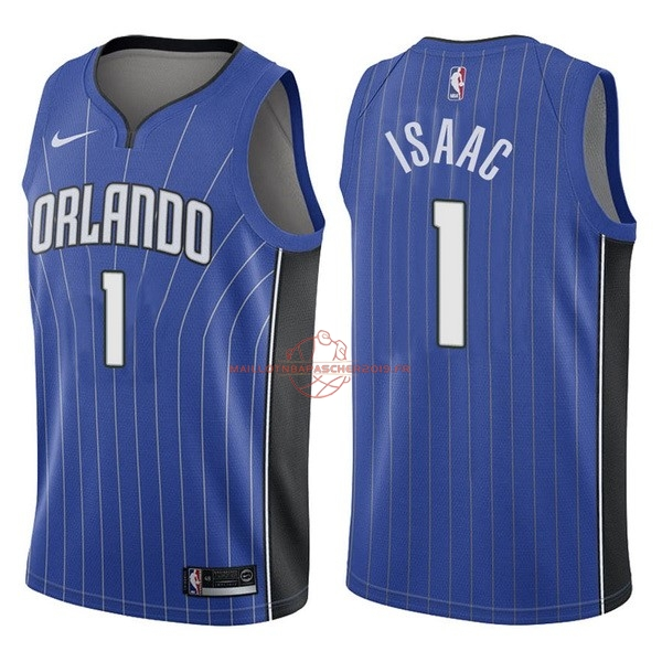 Achat Maillot NBA Nike Orlando Magic NO.1 Jonathan Isaac Bleu Icon pas cher