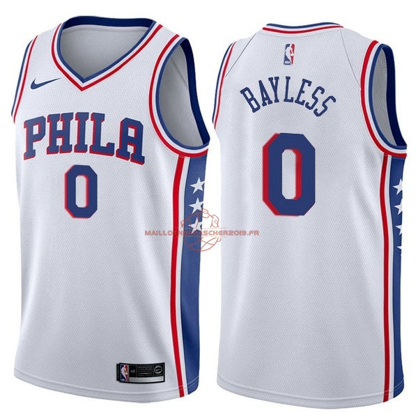 Achat Maillot NBA Nike Philadelphia Sixers NO.0 Jerryd Bayless Blanc Association pas cher
