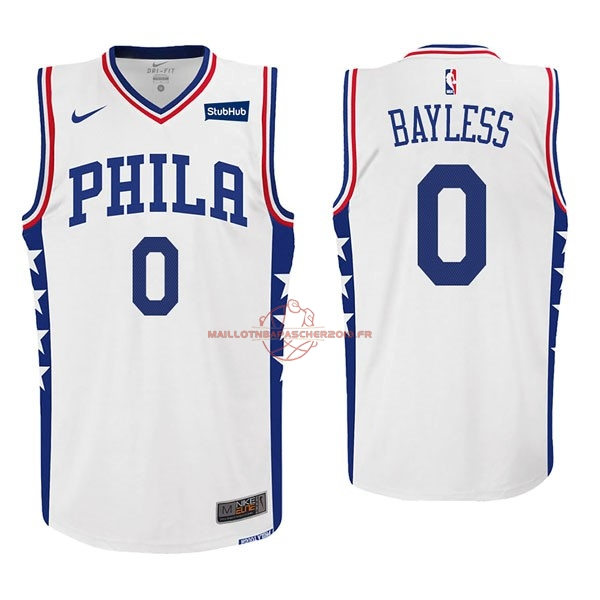 Achat Maillot NBA Nike Philadelphia Sixers NO.0 Jerryd Bayless Blanc pas cher