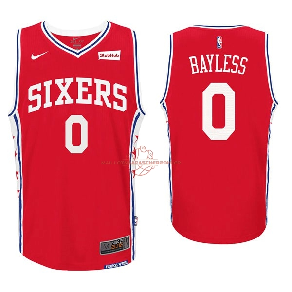 Achat Maillot NBA Nike Philadelphia Sixers NO.0 Jerryd Bayless Rouge pas cher