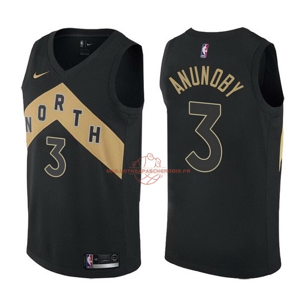 Achat Maillot NBA Nike Toronto Raptors NO.3 OG Anunoby Nike Noir Ville pas cher