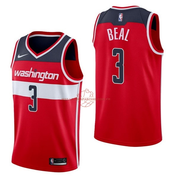 Achat Maillot NBA Nike Washington Wizards NO.3 Bradley Beal Rouge Icon pas cher