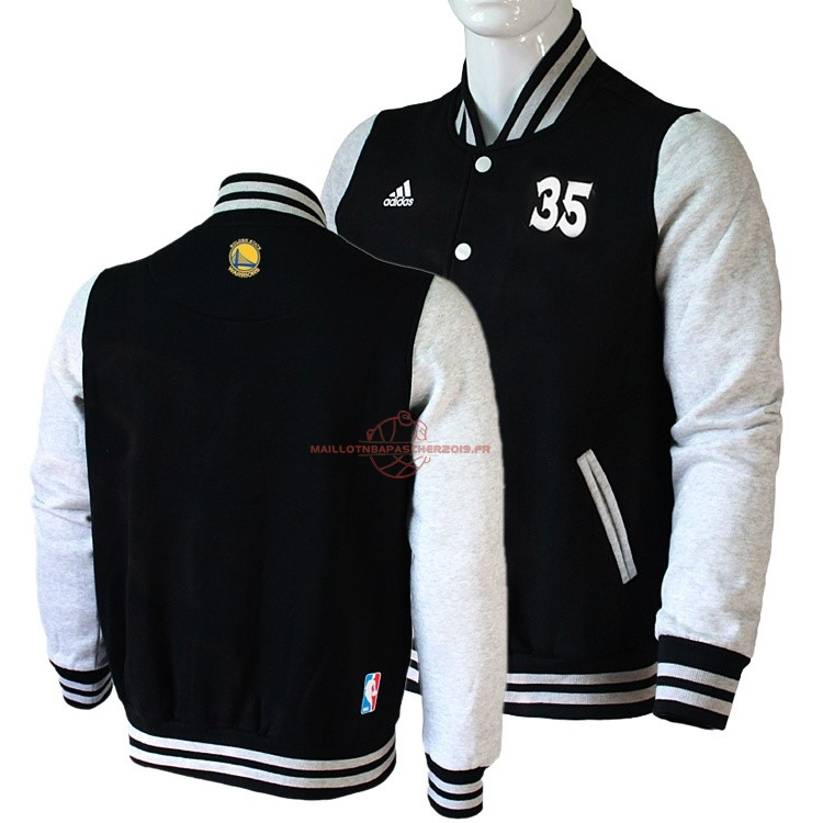 Achat Survetement En Laine NBA Golden State Warriors NO.35 Kevin Durant Noir pas cher