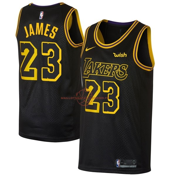 Achat Maillot NBA Nike Los Angeles Lakers NO.23 Lebron James Noir Ville pas cher