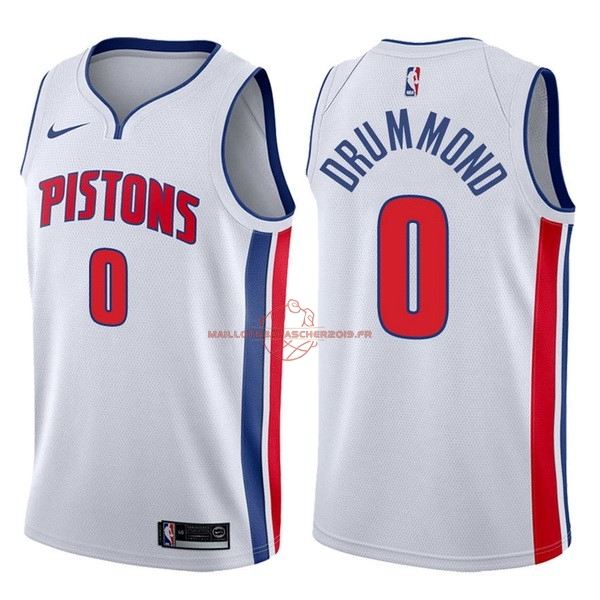 Achat Maillot NBA Nike Detroit Pistons NO.0 Andre Drummond Blanc Association 2017-18 pas cher