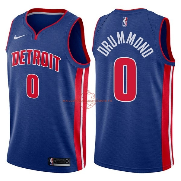 Achat Maillot NBA Nike Detroit Pistons NO.0 Andre Drummond Bleu Icon 2017-18 pas cher
