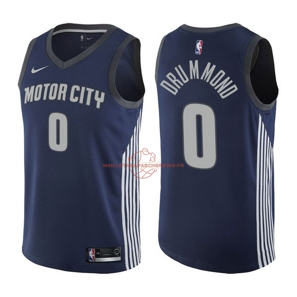 Achat Maillot NBA Nike Detroit Pistons NO.0 Andre Drummond Nike Marine Ville 2017-18 pas cher