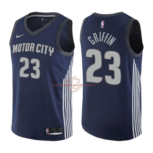 Achat Maillot NBA Nike Detroit Pistons NO.23 Blake Griffin Nike Marine Ville 2017-18 pas cher