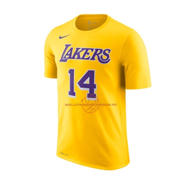 Achat Maillot NBA Nike Los Angeles Lakers Manche Courte NO.14 Brandon Ingram Jaune Icon 2018-19 pas cher