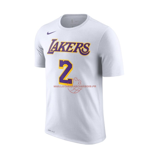 53dc1ccdea8 Achat Maillot NBA Nike Los Angeles Lakers Manche Courte NO.2 Lonzo Ball  Blanc Association