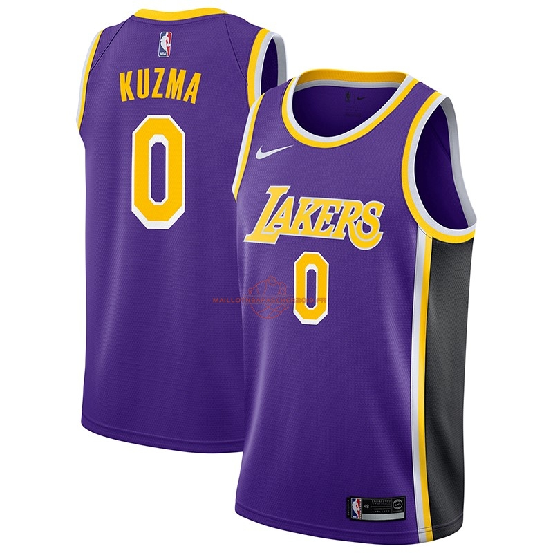 Achat Maillot NBA Nike Los Angeles Lakers NO.0 Kyle Kuzma Pourpre Statement 2018-19 pas cher