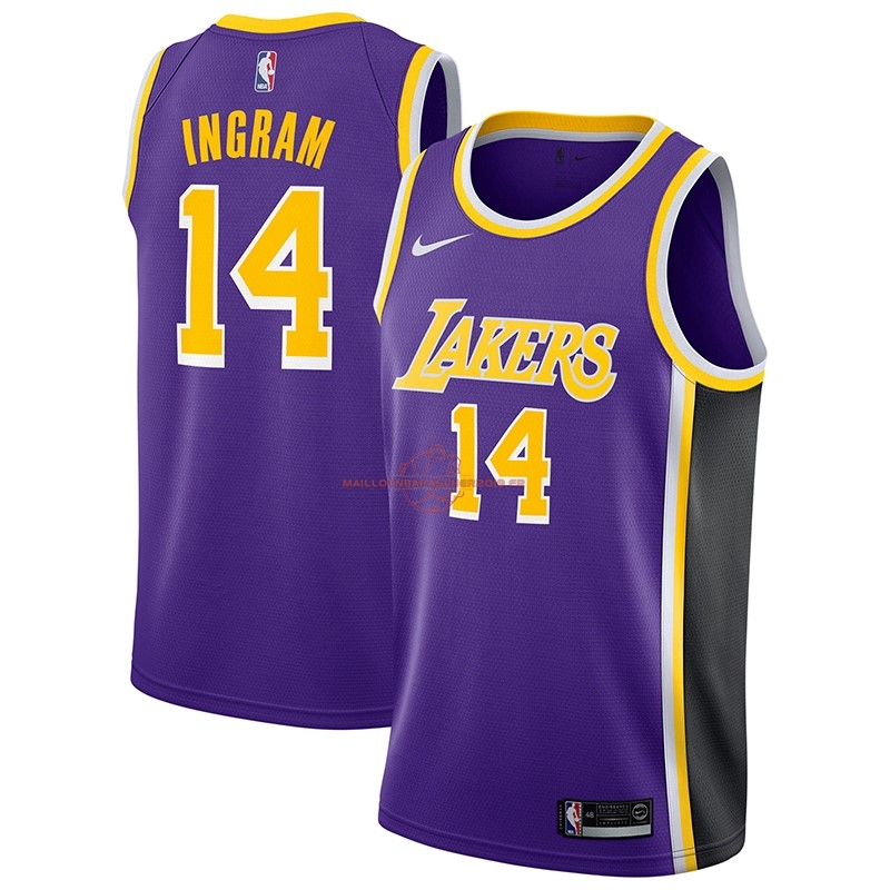 Achat Maillot NBA Nike Los Angeles Lakers NO.14 Brandon Ingram Pourpre Statement 2018-19 pas cher