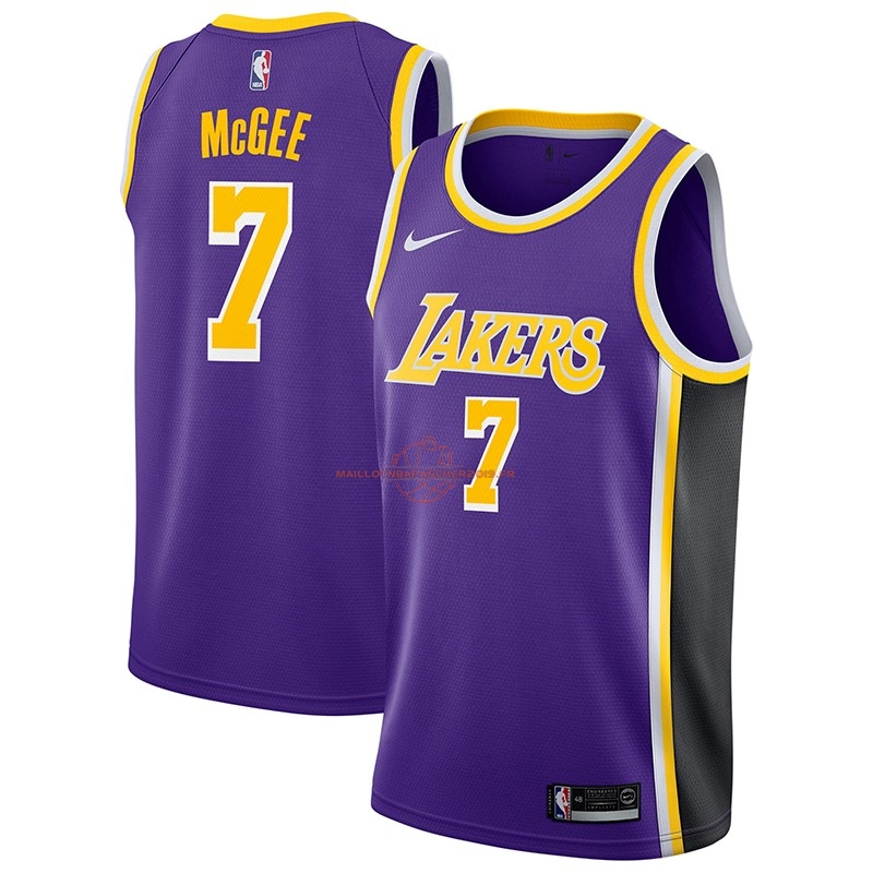 Achat Maillot NBA Nike Los Angeles Lakers NO.7 JaVale McGee Pourpre Statement 2018-19 pas cher
