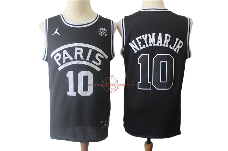 Achat Maillot Collaboration Maillot Basket-ball Jordan x Paris Saint-Germain NO.10 Neymar Jr Noir pas cher