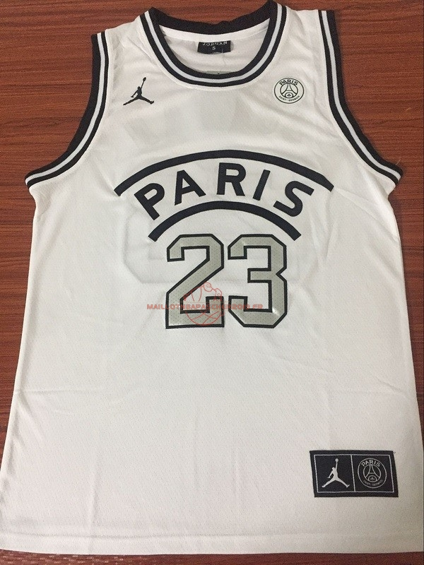 Achat Maillot Collaboration Maillot Basket-ball Jordan x Paris Saint-Germain NO.23 Jordan Blanc pas cher