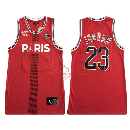 Achat Maillot Collaboration Maillot Basket-ball Jordan x Paris Saint-Germain NO.23 Jordan Rouge pas cher