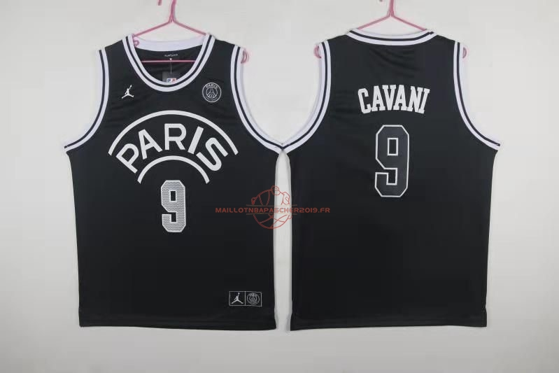 Achat Maillot Collaboration Maillot Basket-ball Jordan x Paris Saint-Germain NO.9 Edison Cavani Noir pas cher