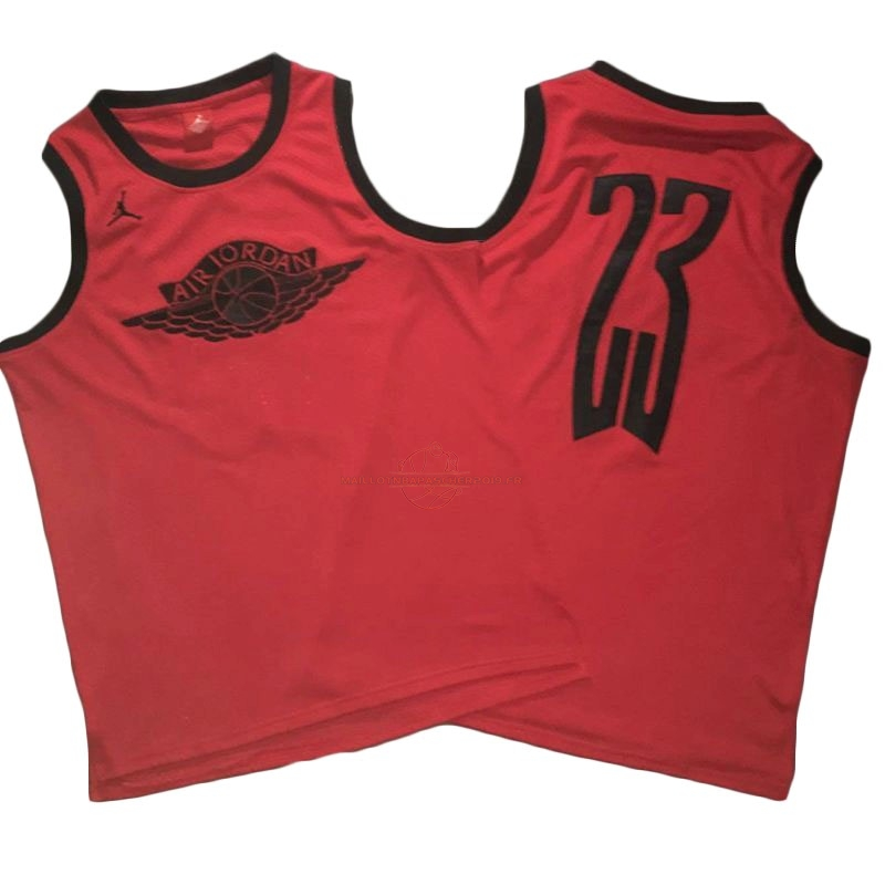 Achat Maillot NBA Chicago Bulls NO.23 Michael Jordan Flying Wing Logo Rouge pas cher