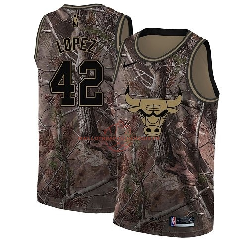 Achat Maillot NBA Chicago Bulls NO.42 Robin Lopez Camo Swingman Collection Realtree 2018 pas cher