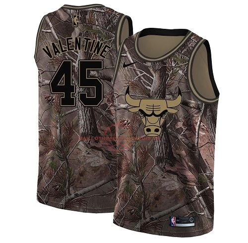Achat Maillot NBA Chicago Bulls NO.45 Denzel Valentine Camo Swingman Collection Realtree 2018 pas cher