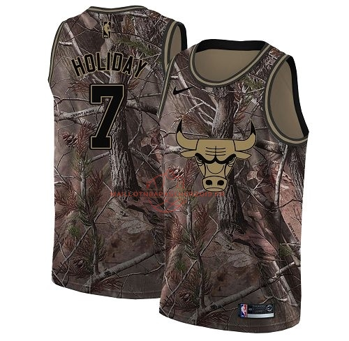 Achat Maillot NBA Chicago Bulls NO.7 Justin Holiday Camo Swingman Collection Realtree 2018 pas cher