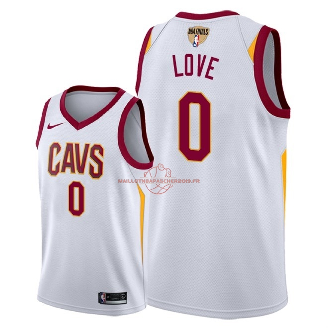 Achat Maillot NBA Cleveland Cavaliers 2018 Final Champions NO.0 Kevin Love Blanc Association Patch pas cher