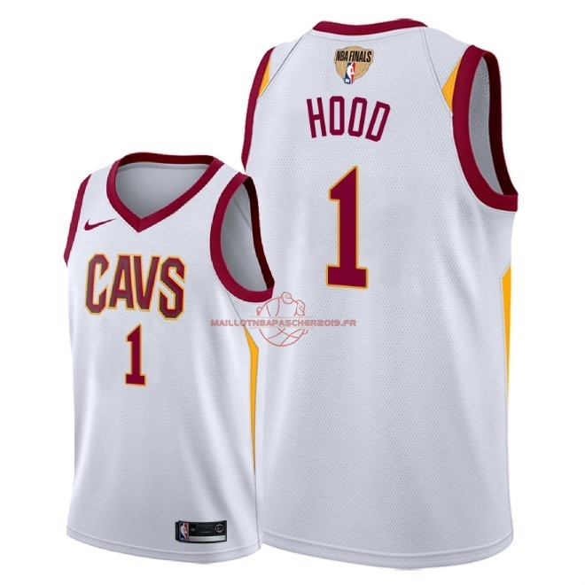 Achat Maillot NBA Cleveland Cavaliers 2018 Final Champions NO.1 Rodney Hood Blanc Association Patch pas cher