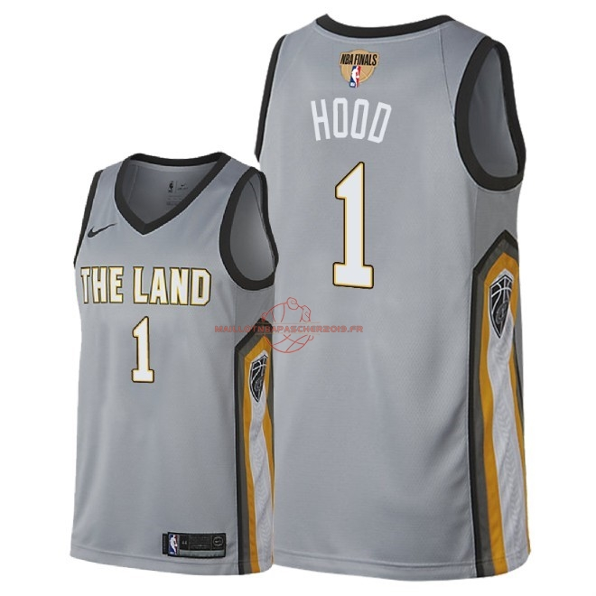 Achat Maillot NBA Cleveland Cavaliers 2018 Final Champions NO.1 Rodney Hood Nike Gris Ville Patch pas cher