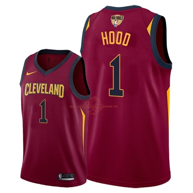 Achat Maillot NBA Cleveland Cavaliers 2018 Final Champions NO.1 Rodney Hood Rouge Icon Patch pas cher