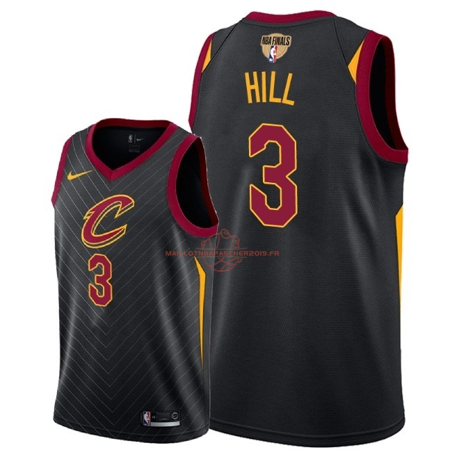 Achat Maillot NBA Cleveland Cavaliers 2018 Final Champions NO.3 George Hill Noir Statement Patch pas cher