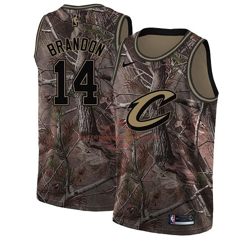 Achat Maillot NBA Cleveland Cavaliers NO.14 Terrell Brandon Camo Swingman Collection Realtree 2018 pas cher