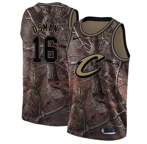 Achat Maillot NBA Cleveland Cavaliers NO.16 Cedi Osman Camo Swingman Collection Realtree 2018 pas cher