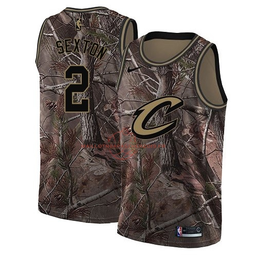Achat Maillot NBA Cleveland Cavaliers NO.2 Collin Sexton Camo Swingman Collection Realtree 2018 pas cher