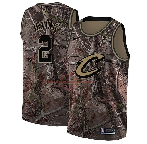 Achat Maillot NBA Cleveland Cavaliers NO.2 Kyrie Irving Camo Swingman Collection Realtree 2018 pas cher
