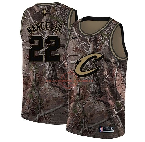Achat Maillot NBA Cleveland Cavaliers NO.22 Larry Nance Jr Camo Swingman Collection Realtree 2018 pas cher