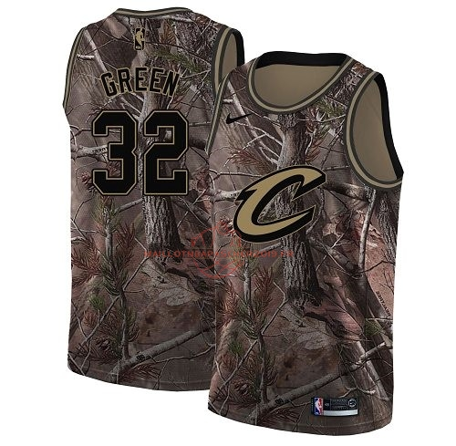 Achat Maillot NBA Cleveland Cavaliers NO.32 Jeff Green Camo Swingman Collection Realtree 2018 pas cher