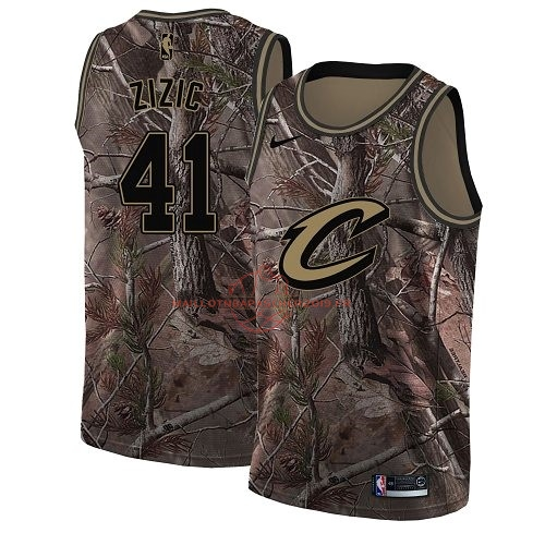 Achat Maillot NBA Cleveland Cavaliers NO.41 Ante Zizic Camo Swingman Collection Realtree 2018 pas cher