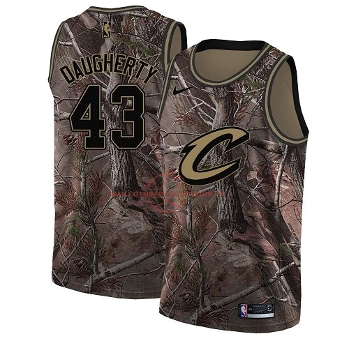 Achat Maillot NBA Cleveland Cavaliers NO.43 Brad Daugherty Camo Swingman Collection Realtree 2018 pas cher