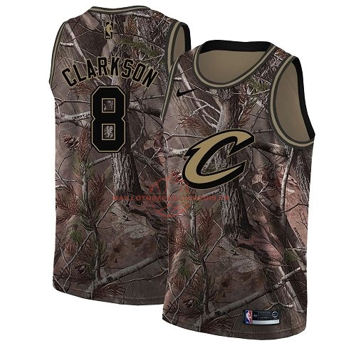 Achat Maillot NBA Cleveland Cavaliers NO.8 Jordan Clarkson Camo Swingman Collection Realtree 2018 pas cher