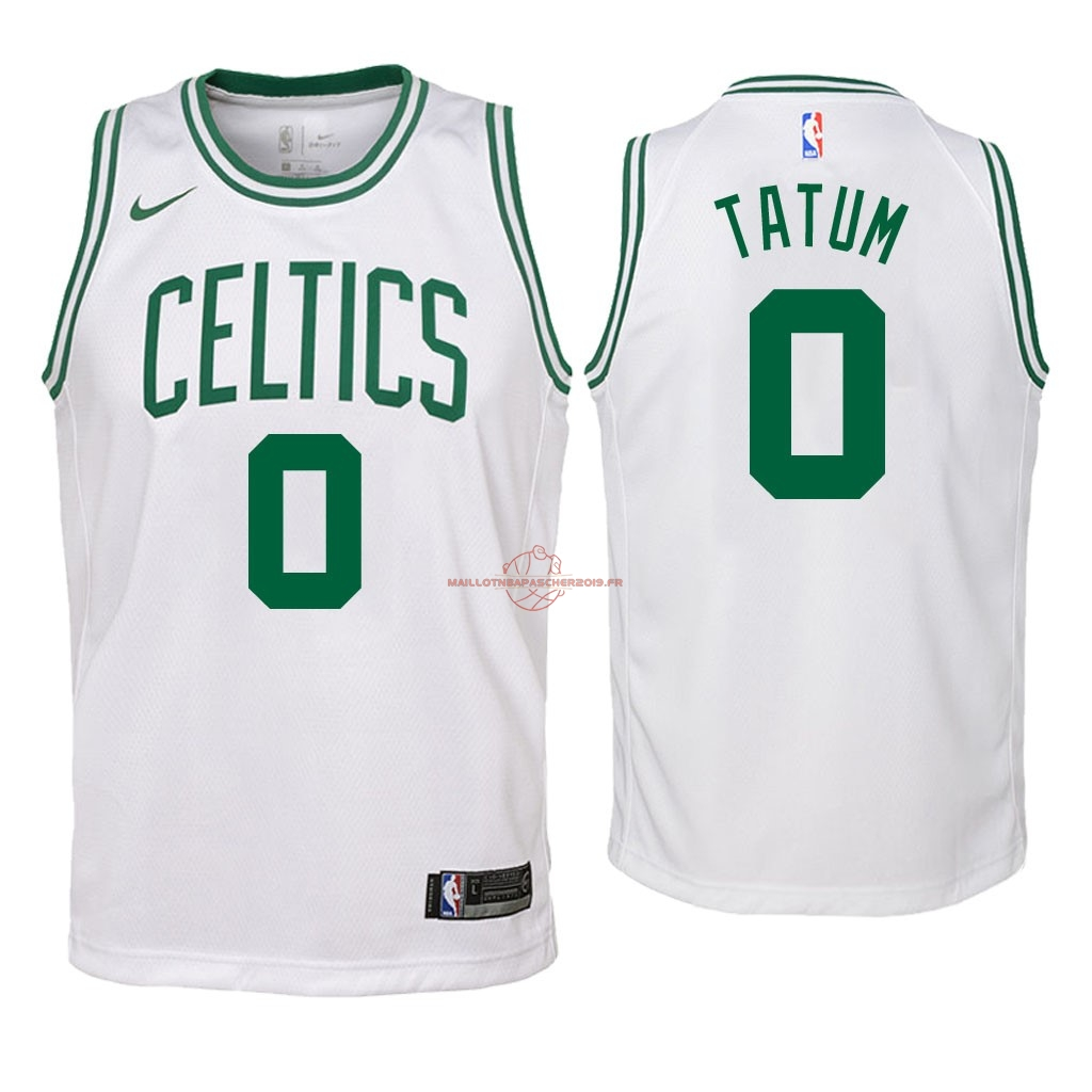 Achat Maillot NBA Enfant Boston Celtics NO.0 Jayson Tatum Blanc Association 2018 pas cher