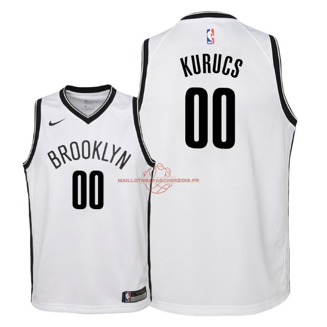 Achat Maillot NBA Enfant Brooklyn Nets NO.0 Rodions Kurucs Blanc Association 2018 pas cher