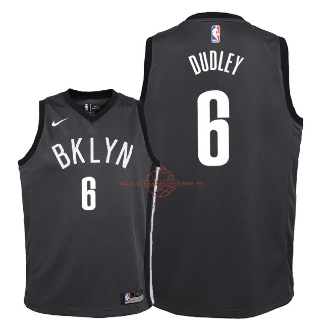 Achat Maillot NBA Enfant Brooklyn Nets NO.6 Jared Dudley Noir Statement 2018 pas cher
