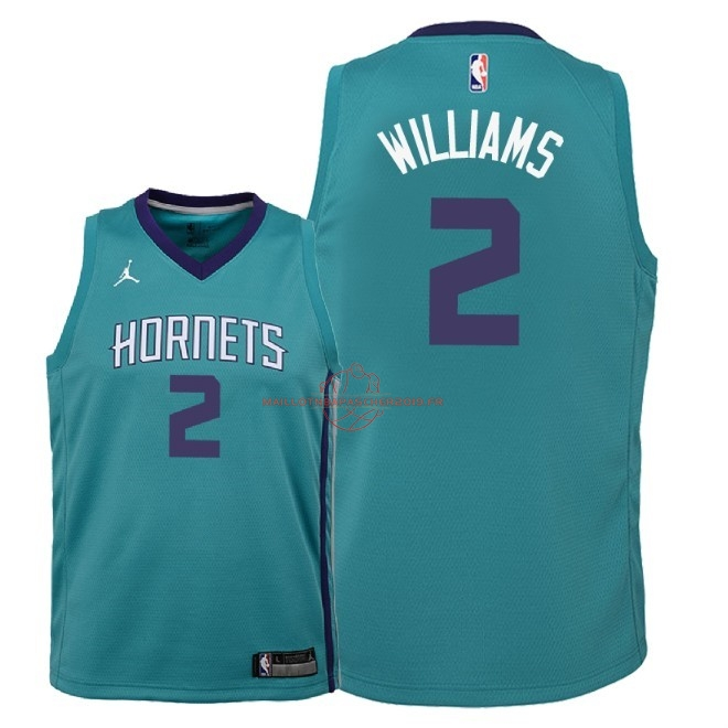 Achat Maillot NBA Enfant Charlotte Hornets NO.2 Marvin Williams Vert Icon 2018 pas cher