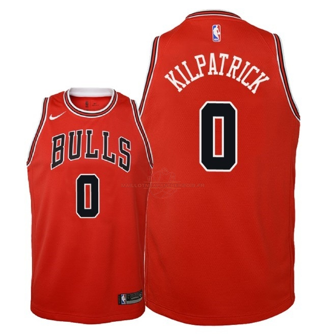 Achat Maillot NBA Enfant Chicago Bulls NO.0 Sean Kilpatrick Rouge Icon 2018 pas cher