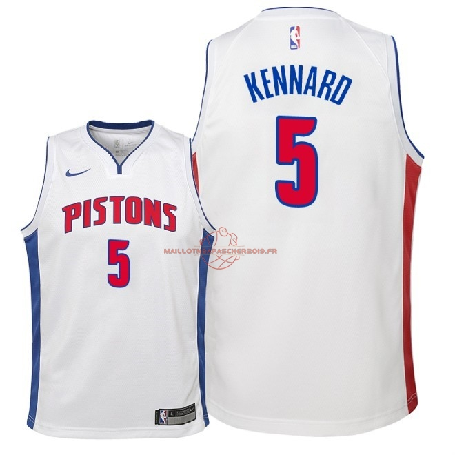 Achat Maillot NBA Enfant Detroit Pistons NO.5 Luke Kennard Blanc Association 2018 pas cher