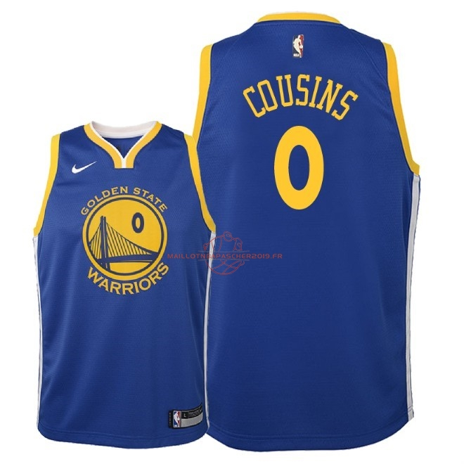 Achat Maillot NBA Enfant Golden State Warriors NO.0 DeMarcus Cousins Bleu Icon 2018 pas cher
