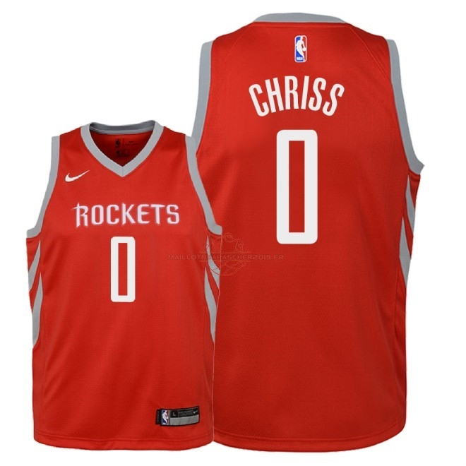 Achat Maillot NBA Enfant Houston Rockets NO.0 Marquese Chriss Rouge Icon 2018 pas cher