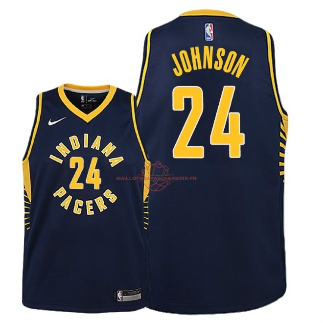 Achat Maillot NBA Enfant Indiana Pacers NO.24 Alize Johnson Marine Icon 2018-19 pas cher