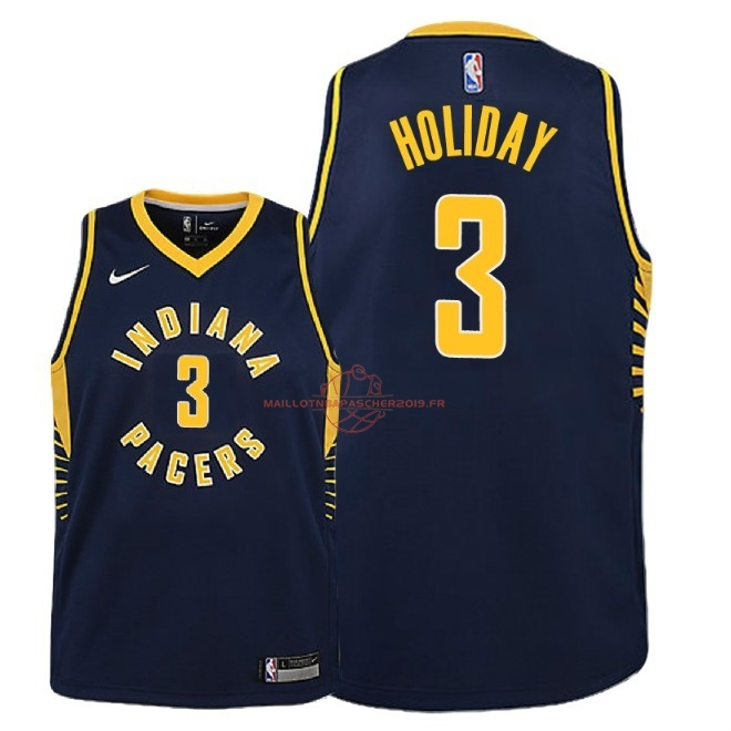 Achat Maillot NBA Enfant Indiana Pacers NO.3 Aaron Holiday Marine Icon 2018-19 pas cher